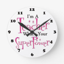 Super Teacher Round Clock