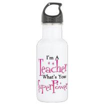 Super Teacher Stainless Steel Water Bottle