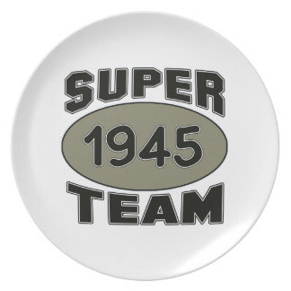 Super Team 1945 Plate