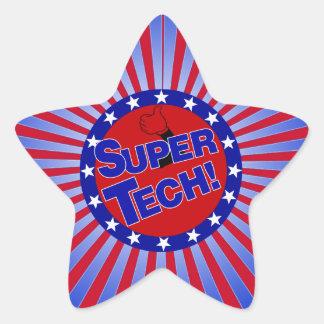 SUPER TECH BUTTON PATRIOTIC .png Star Sticker