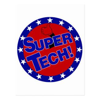 SUPER TECH! LABORATORY SCIENTIST ENCOURAGEMENT POST CARDS