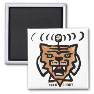 Super Tiger Robot by Corporate America 2 Inch Square Magnet