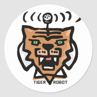 Super Tiger Robot by Corporate America Stickers