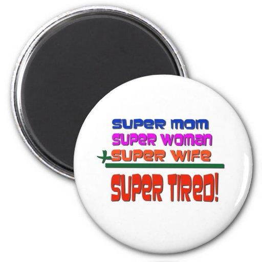 Super Tired! Refrigerator Magnets