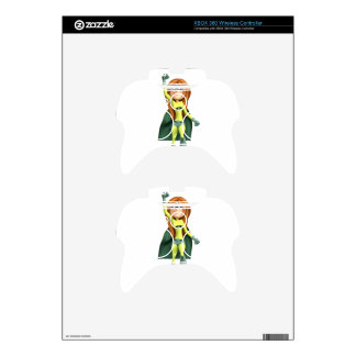 Super Toon Girl in Lime and Green Xbox 360 Controller Skins