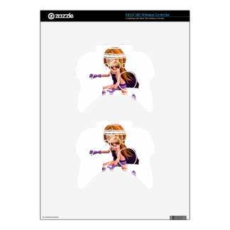 Super Toon Girl in Pink and Purple Xbox 360 Controller Decal