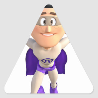 Super Toonman dressed in Grey and Purple Triangle Sticker