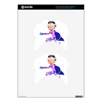 Super Toonman  dressed in Purple and Blue Xbox 360 Controller Skins