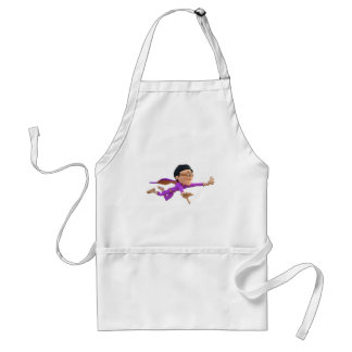 Super Toonman in Biege and Purple Adult Apron