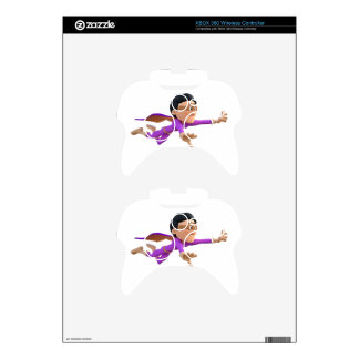 Super Toonman in Biege and Purple Xbox 360 Controller Skins
