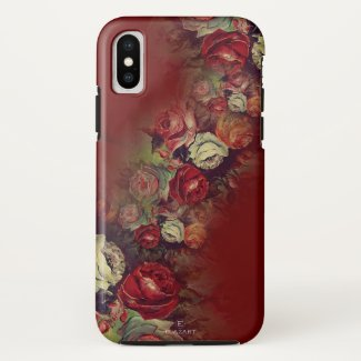 Super Trendy Red Floral iPhone X Case