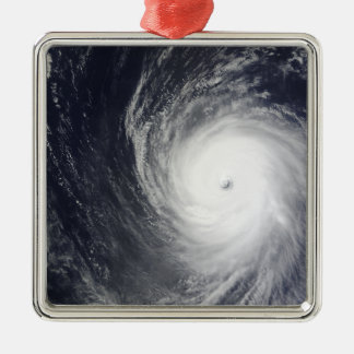 Super Typhoon Melor hovers over the Pacific Oce Square Metal Christmas Ornament
