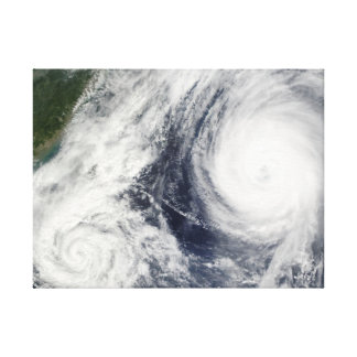 Super Typhoon, Parma over Luzon, Philippines Stretched Canvas Print