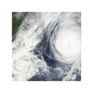 Super Typhoon, Parma over Luzon, Philippines Stretched Canvas Prints