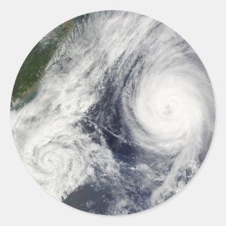 Super Typhoon, Parma over Luzon, Philippines Classic Round Sticker