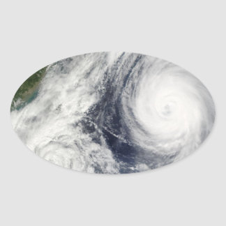 Super Typhoon, Parma over Luzon, Philippines Oval Sticker