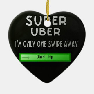 super uber ceramic ornament