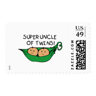 Super Uncle of Twins Pod Postage