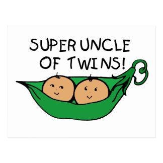 Super Uncle of Twins Pod Postcard