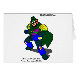 Super Vegan Man Our Mascot Gifts Tees Cards Cards