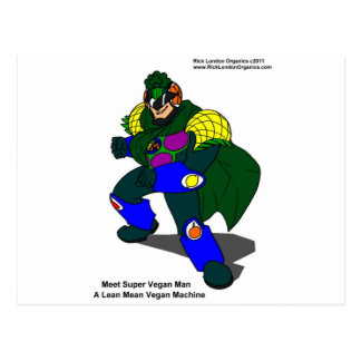 Super Vegan Man Our Mascot Gifts Tees Cards Post Cards