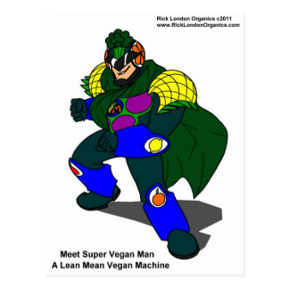 Super Vegan Man Our Mascot Gifts Tees Cards Postcard