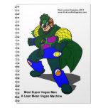 Super Vegan Man (Our Mascot) Spiral Notebook Spiral Notebook