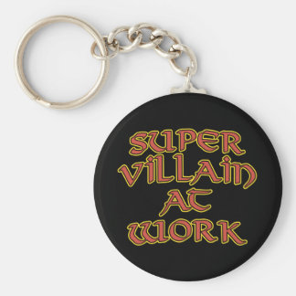 Super Villain at Work Key Chains