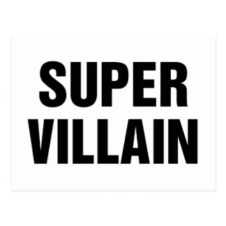 Super Villain Postcard