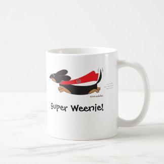 Super Weenie Black Tan Dachshund Mug by Sudachan