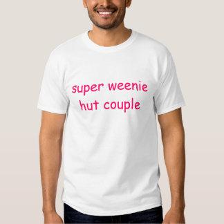 super weenie hut couple shirt
