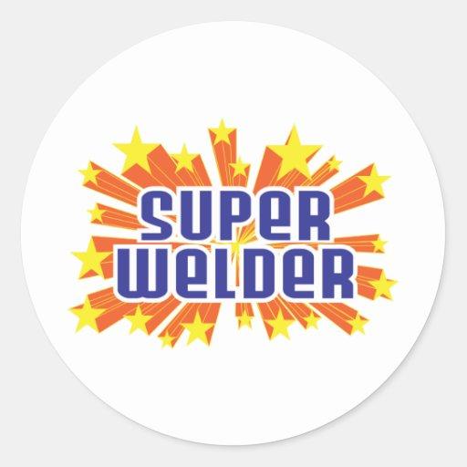 Super Welder Classic Round Sticker