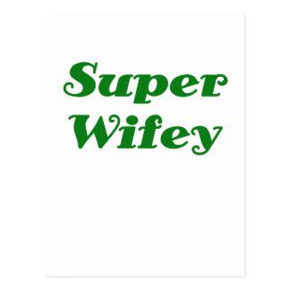 Super Wifey Postcard
