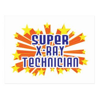 Super X-Ray Technician Postcard