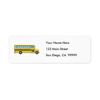 Super Yellow School Bus Label