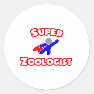 Super Zoologist Classic Round Sticker