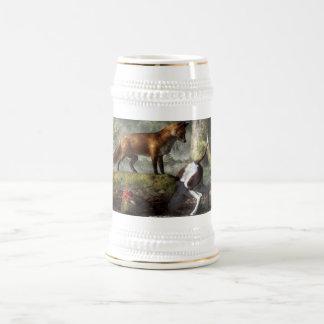 Superado en el engan@o jarra de cerveza
