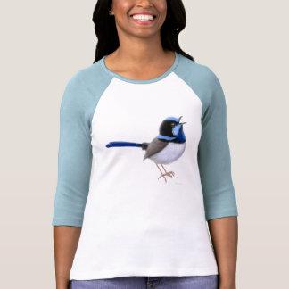Superb Fairy Wren Raglan Jersey Shirt