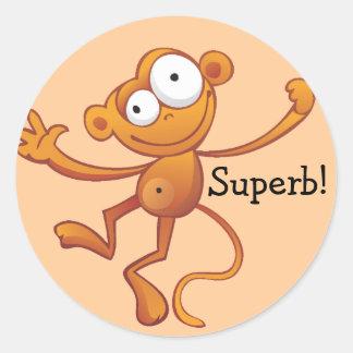 Superb Reward Stickers - Monkey