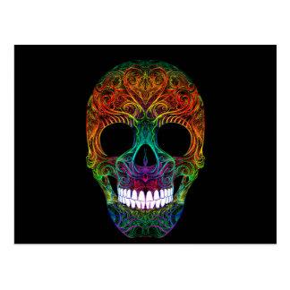 Superb Sugar Skull Dia De Los Muertos Candy Skull Postcard