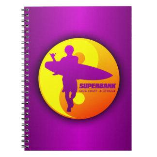 Superbank -Gold Coast, Australia Spiral Notebook
