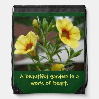 Superbells Floral Drawstring Backpack