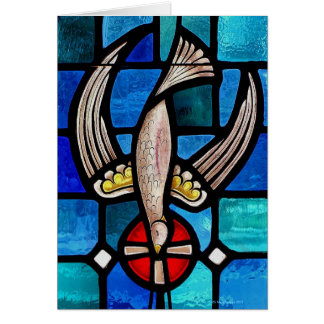 Superbird Stained Glass Card