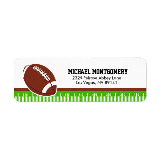 Superbowl Football Rugby Birthday Baby Shower Label