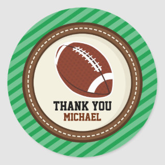 Superbowl Football Rugby Thank You Favor Tags