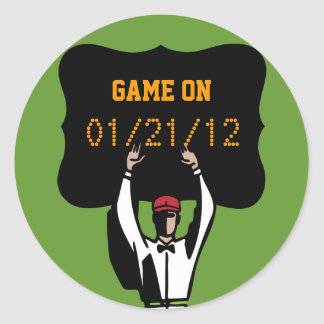 Superbowl Football Theme Party - Game on Ref Sticker
