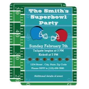 Superbowl Party Invitations Zazzle
