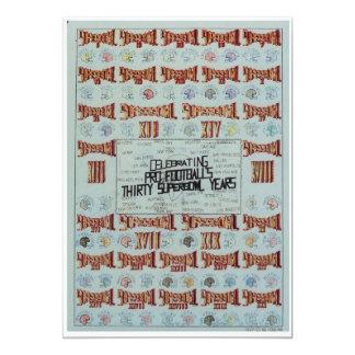 superbowl poster card