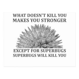 Superbugs Will Kill You Postcard