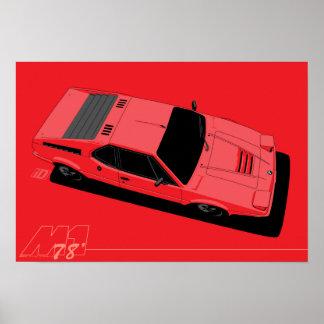 Supercar 1978 M1 Póster